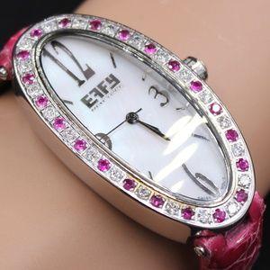 Pink Sapphire Diamond 1.77 Tcw. Luxury Watch